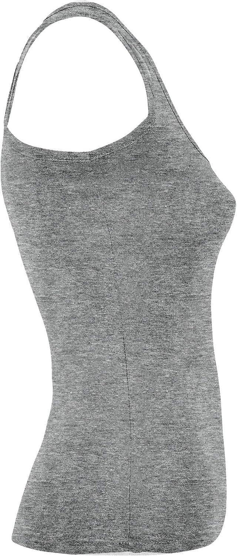 Camiseta de Tirantes para Mujer Tank Top 1//2 Pack Verano Alto Espalda Estilo Nadadora