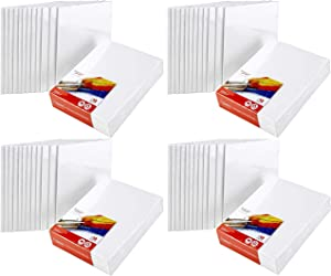 """Artlicious Canvas Panels 48 Pack - 8""""X10"""" Super Value Pack- Artist Canvas Boards for Painting"""