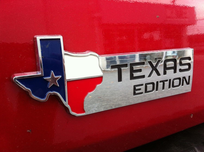Amazon com chevy truck texas flag emblem emblem 2 piece chrome automotive