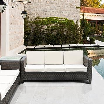Piushopping Luxurygarden Sofa 3 Sitzer Polyrattan Lounge Mobel
