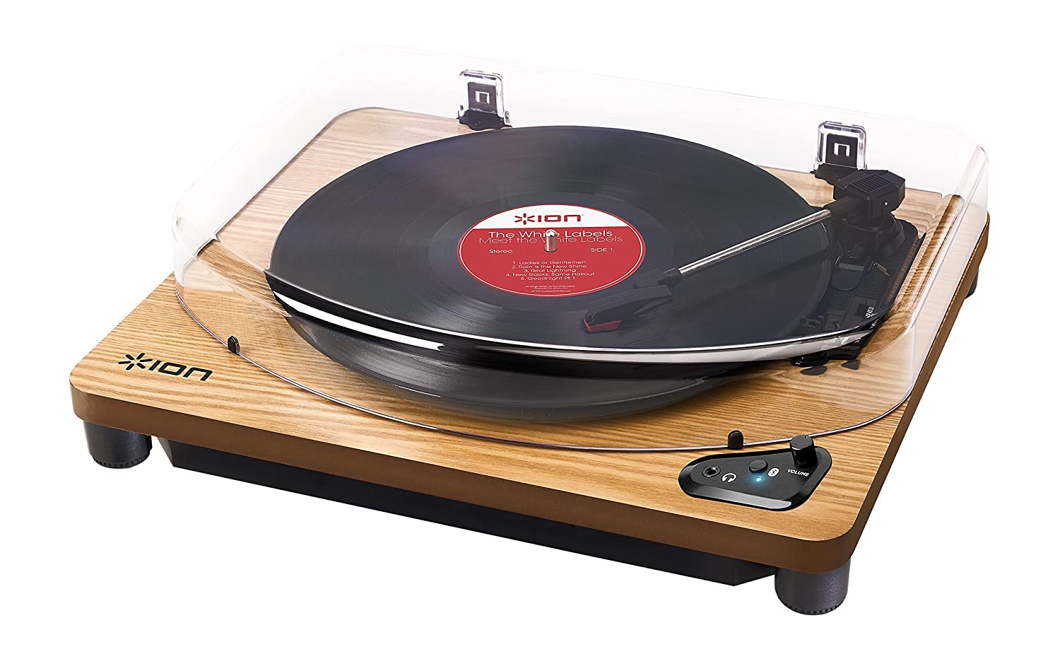 ION Audio Air LP Wood Tocadiscos con streaming de audio por Bluetooth