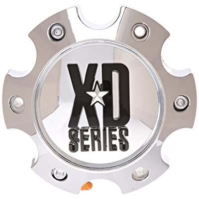 KMC XD Series 796 797 798 Chrome 6 Lug Wheel Rim Center Cap 1079L145: Automotive