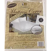 Better Home Zippered Fabric Mattress Cover, Protects Against Bed Bugs