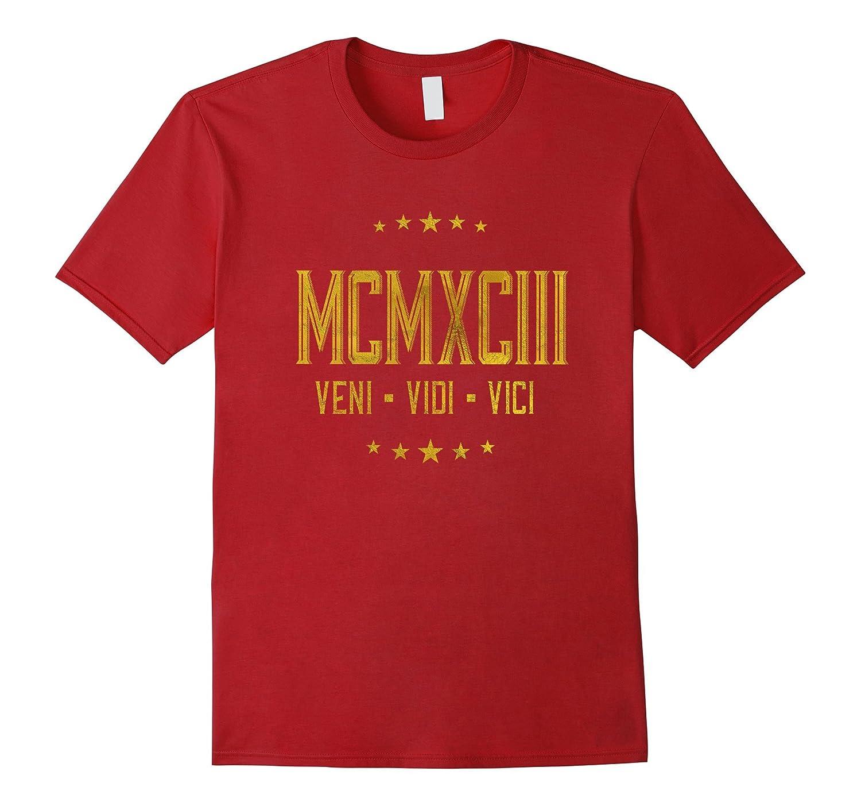 1993 Veni Vidi Vici T-Shirt 24 yrs old Bday 24th Birthday-PL