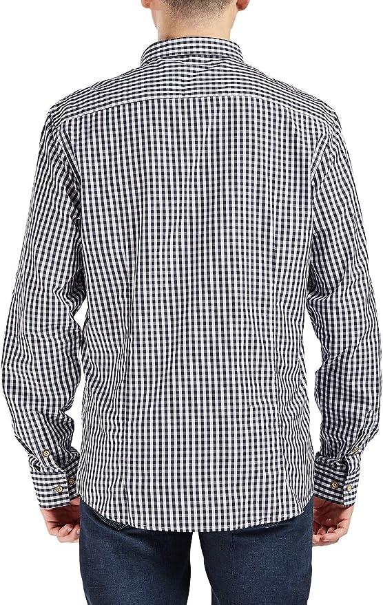 Trimthread Mens Classic Regular Fit Long Sleeve Casual Check Plaid Button Down Shirt
