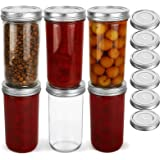 KAMOTA Wide Mouth Mason Jars 22 oz With Wide Mouth Lids and Bands, Ideal for Jam, Honey, Wedding Favors, Shower Favors, Baby