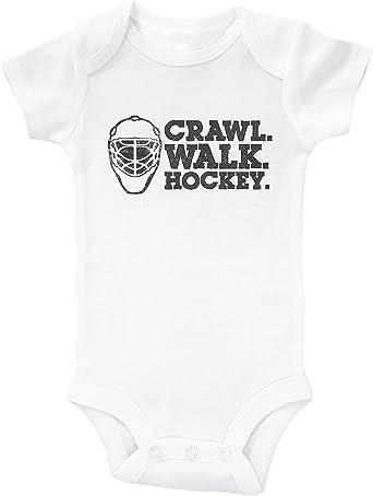Crawl Walk Hockey Onesie