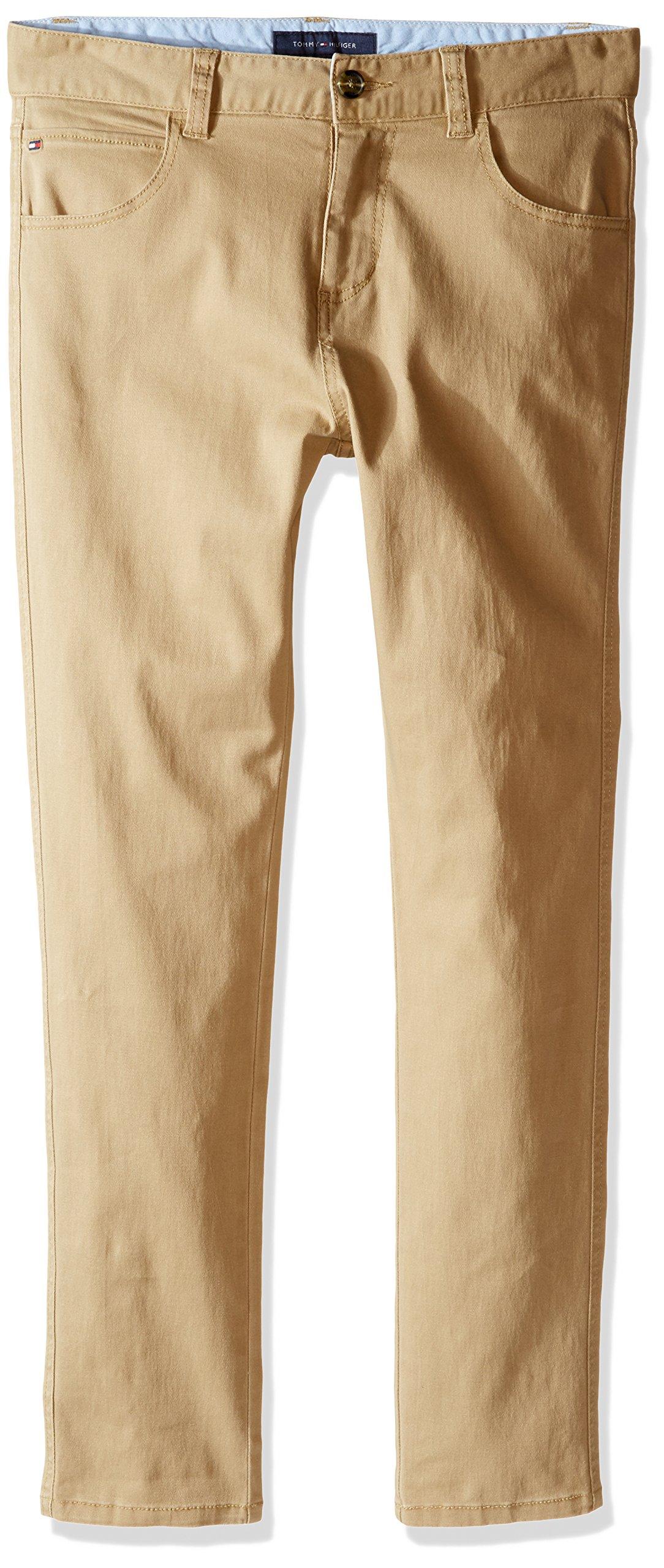 Tommy Hilfiger Big Boys 5 Pocket Trent Pant, TH Chino, 16
