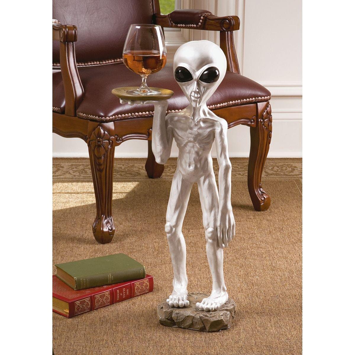 Amazon.com: Design Toscano Roswell, The Alien Butler Sculpture: Kitchen U0026  Dining