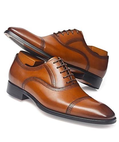 Amazon.com: Alipasinm - Zapatos de cuero genuino para hombre ...
