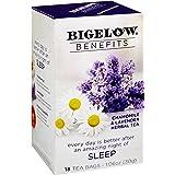 Bigelow Benefits Sleep Chamomile Lavender Caffeine-Free Herbal Tea, 18 Count (Pack of 6), 108 Tea Bags Total