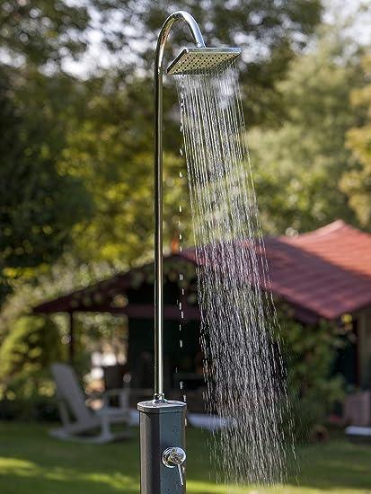 Gre SSAL18 Ducha Solar Aluminio con depósito 18 L, Dos Piezas, para jardín: Amazon.es: Jardín