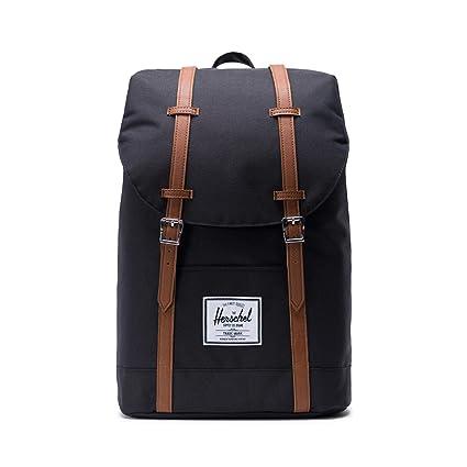 0927ef0c919 Herschel Retreat Backpack Casual Daypack, 43 cm, 19.5 liters, Black  (Schwarz/Tan): Amazon.co.uk: Luggage