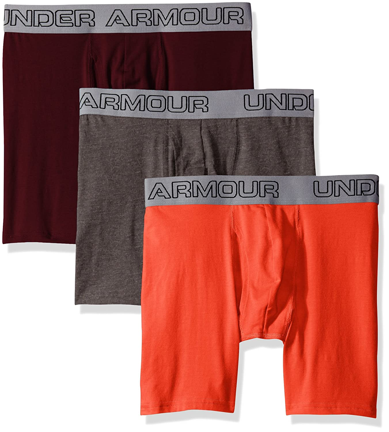 "592f0b559eb9 Amazon.com: Under Armour Armor Men's Charged Cotton Stretch 6"" Boxerjock – 3 -Pack: Clothing"