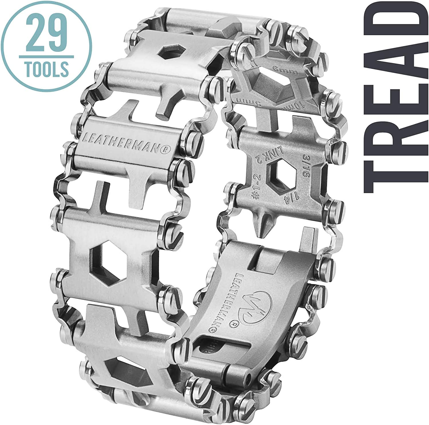 LEATHERMAN – Tread Bracelet, The Original Travel Friendly Wearable Multitool, Stainless Steel