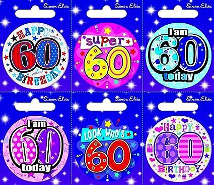 Creative Insignia 6 Tarjeta del feliz cumpleaños Edad 60 ...