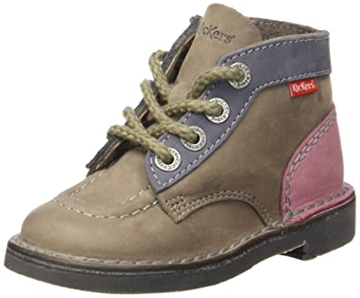 096cd5cbf935b1 Kickers Colz, Girls' Boots, Grau - Gris (Gris/Bleu/Rose), 12.5 UK ...