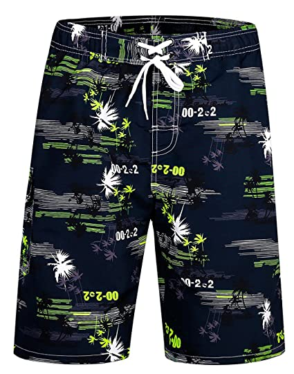 f11dd9ab99 Image Unavailable. Image not available for. Color: ICEbear Mens Swim Trunks Quick  Dry Water Beach Board Shorts Cool Sportwear