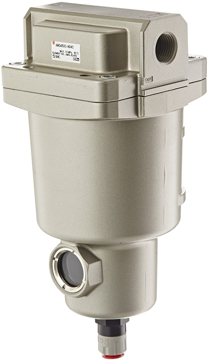 SMC AMG450C-N04C Water Separator, N.C. Auto Drain, 2,200 L/min, 1/2 NPT by SMC Corporation B009VQ0KO0 Parent - -