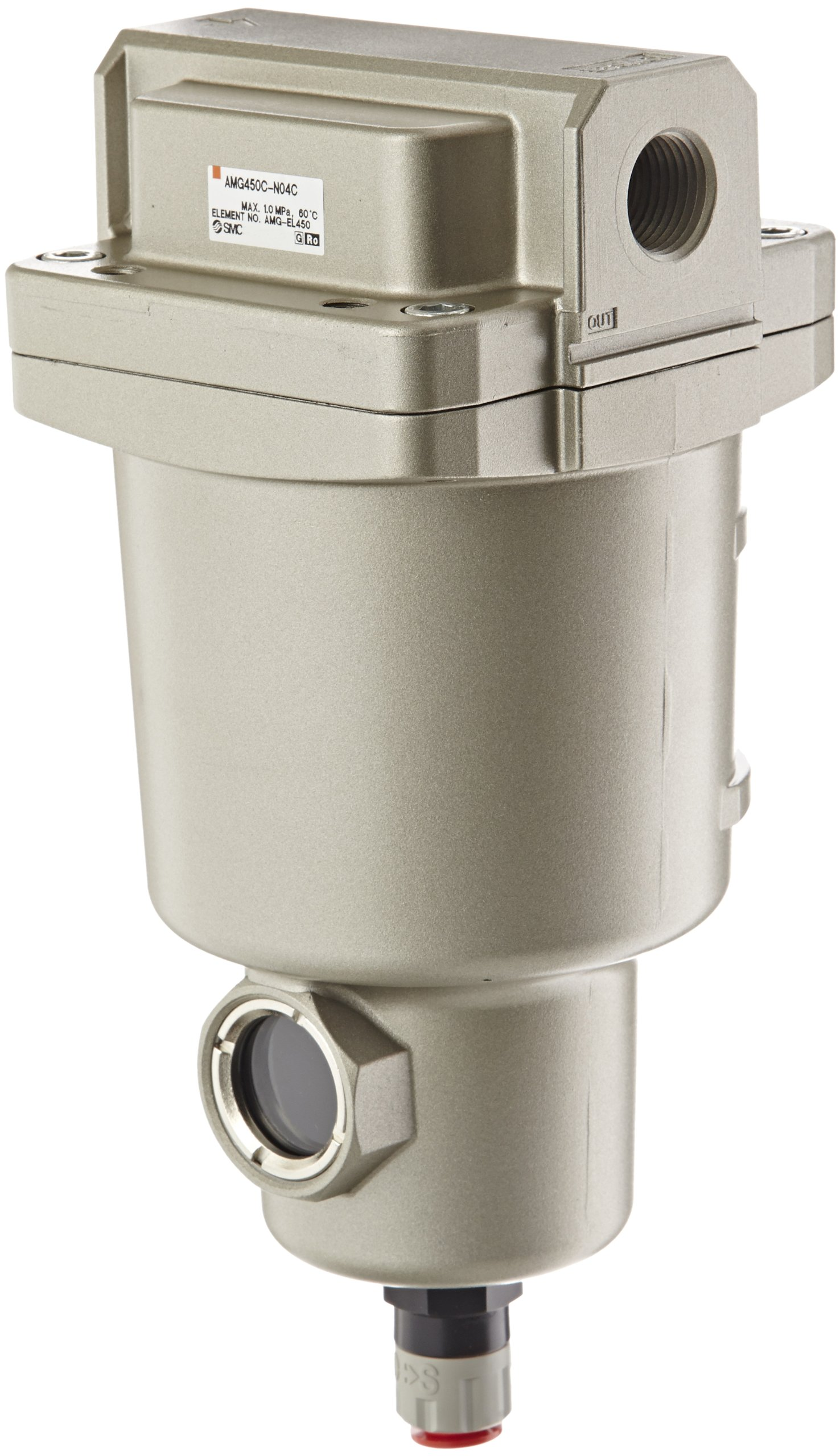SMC AMG450C-N04C Water Separator, N.C. Auto Drain, 2,200 L/min, 1/2'' NPT