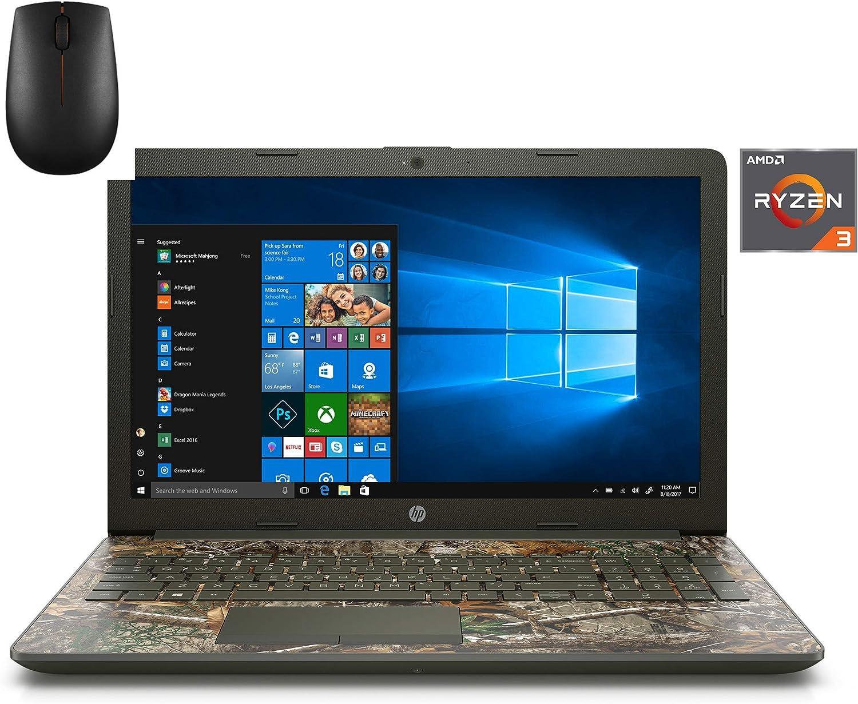 2020 Premium Flagship HP 15.6 in HD Laptop (AMD Ryzen 3 2200U , 4GB DDR4 RAM, 1TB HDD, AMD Radeon Vega 3, WiFi, Bluetooth, HDMI, DVD-DW, Windows 10) (Renewed) (Camo)