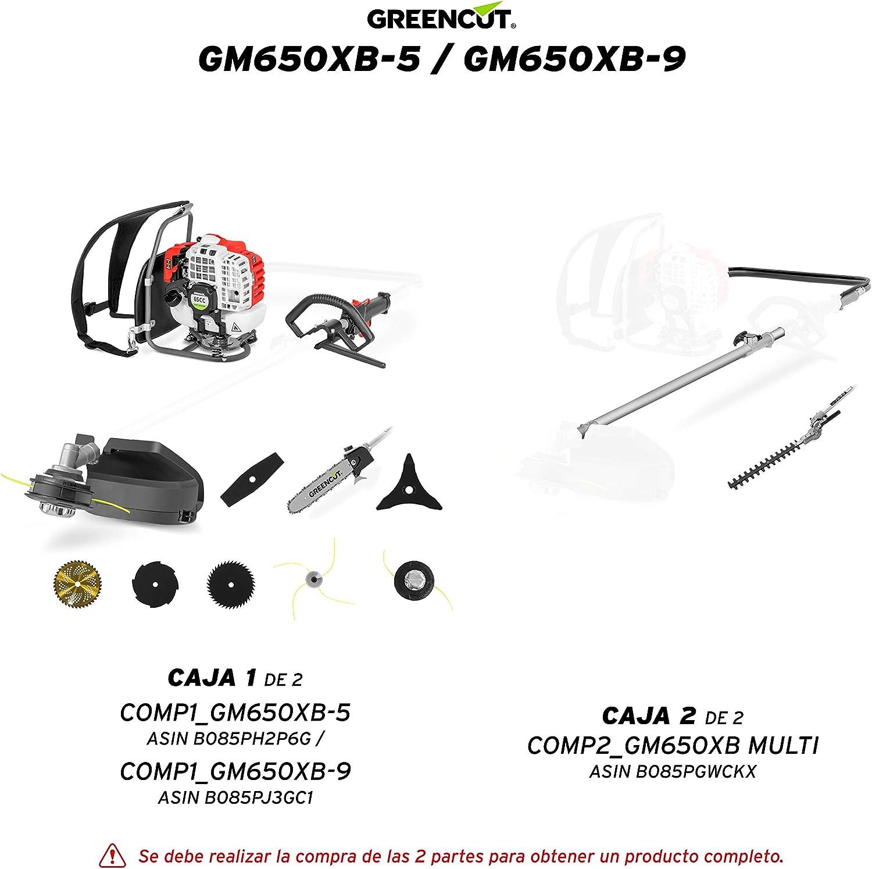 Rojo Greencut GM650XB-5 Herramienta multifunci/ón 5-en-1