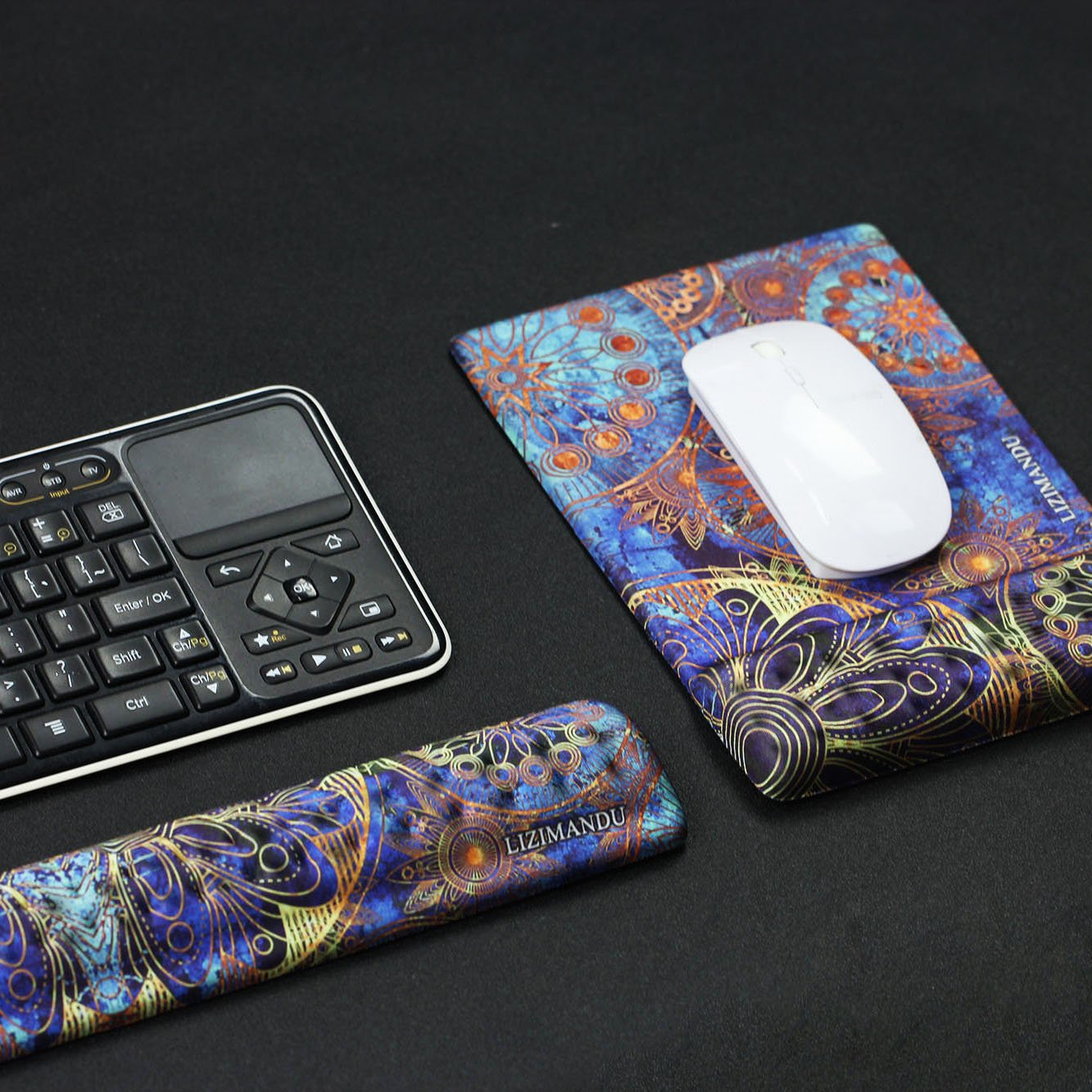 Cheliz Keyboard Wrist Rest Pad and Mouse Wrist Rest Support Mouse Pad Blue Purple Flower2 Durable /& Comfortable /& Lightweight for Easy Typing /& Pain Relief-Ergonomic Support