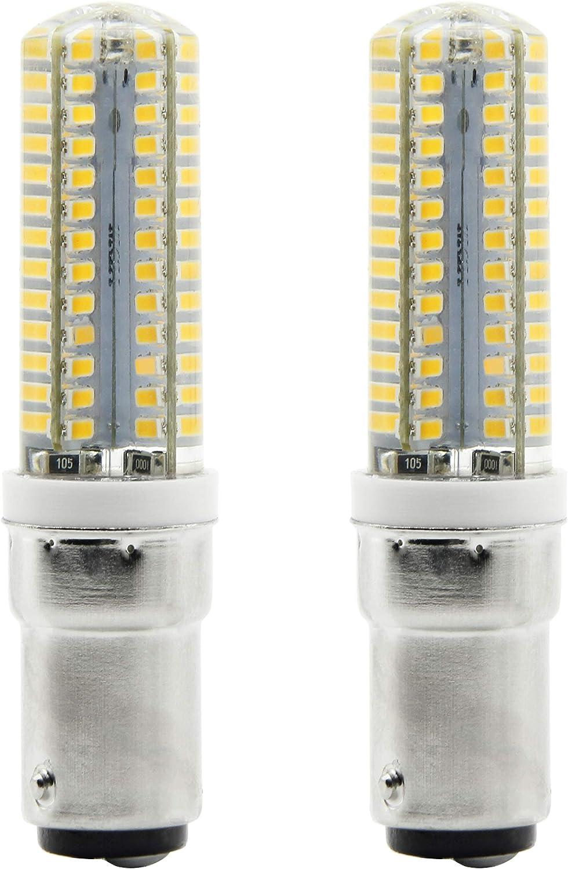 bqhy 2-Packs 6W BA15D LED bombilla luz No Regulable Blanco Cálido 3000K 220-240V Casquillo de Bayoneta LED Bombilla Reemplazar Incandescente 50W
