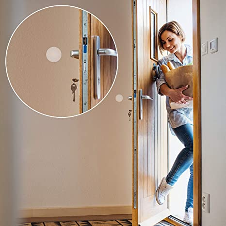 Door Knob Guard with Self Adhesive Sticker for Protecting Wall Silicone Door Handle Bumper HongWay 16pcs 1.6inch Door Stopper Wall Protector