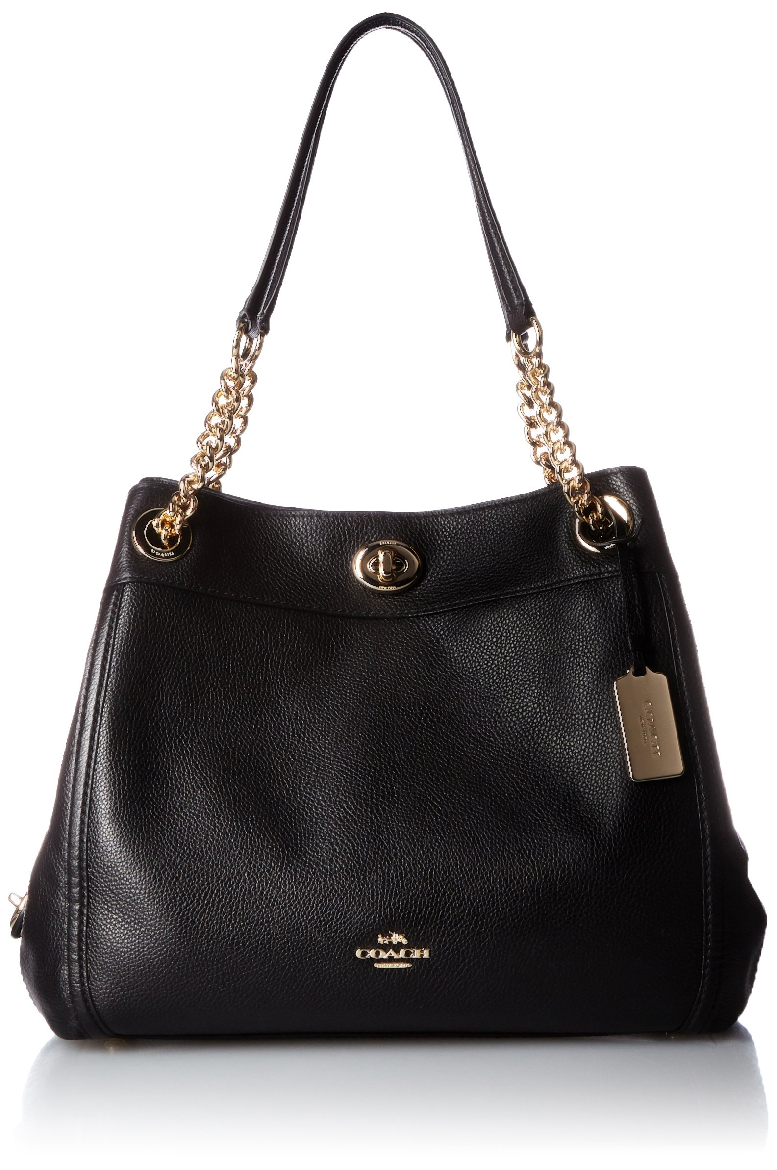 COACH Womens Turnlock Edie LIBlack Shoulder Bag . afbef8a9c018f