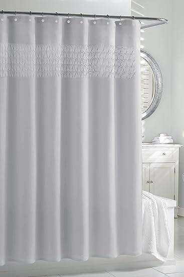 Kassatex SSP 115 SLV Smock Pleat Shower Curtain