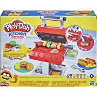 Play-Doh - Kitchen Creations Grill 'n Stamp - BBQ Playset for Boys and Girls, with 7 Barbecue Toy Accessories and 6 Tubs…