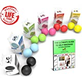 Premium Massage Balls, Firm Lacrosse Ball Set or Spiky Roller, Deep Tissue Trigger Point, Foot Massager, Mobility, Acupressure, Plantar Fasciitis, Reflexology, Therapy & Myofascial Release, FREE Ebook