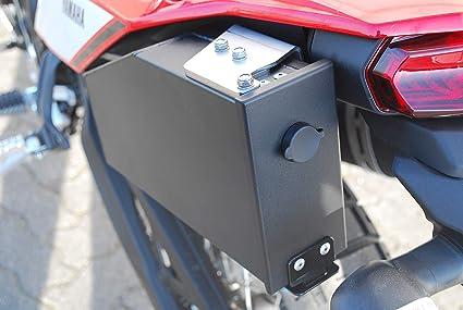MyTech Tenere 700 Tool Case Silver Tool Box Cassetta portattrezzi in Alluminio Lato Destro marmitta