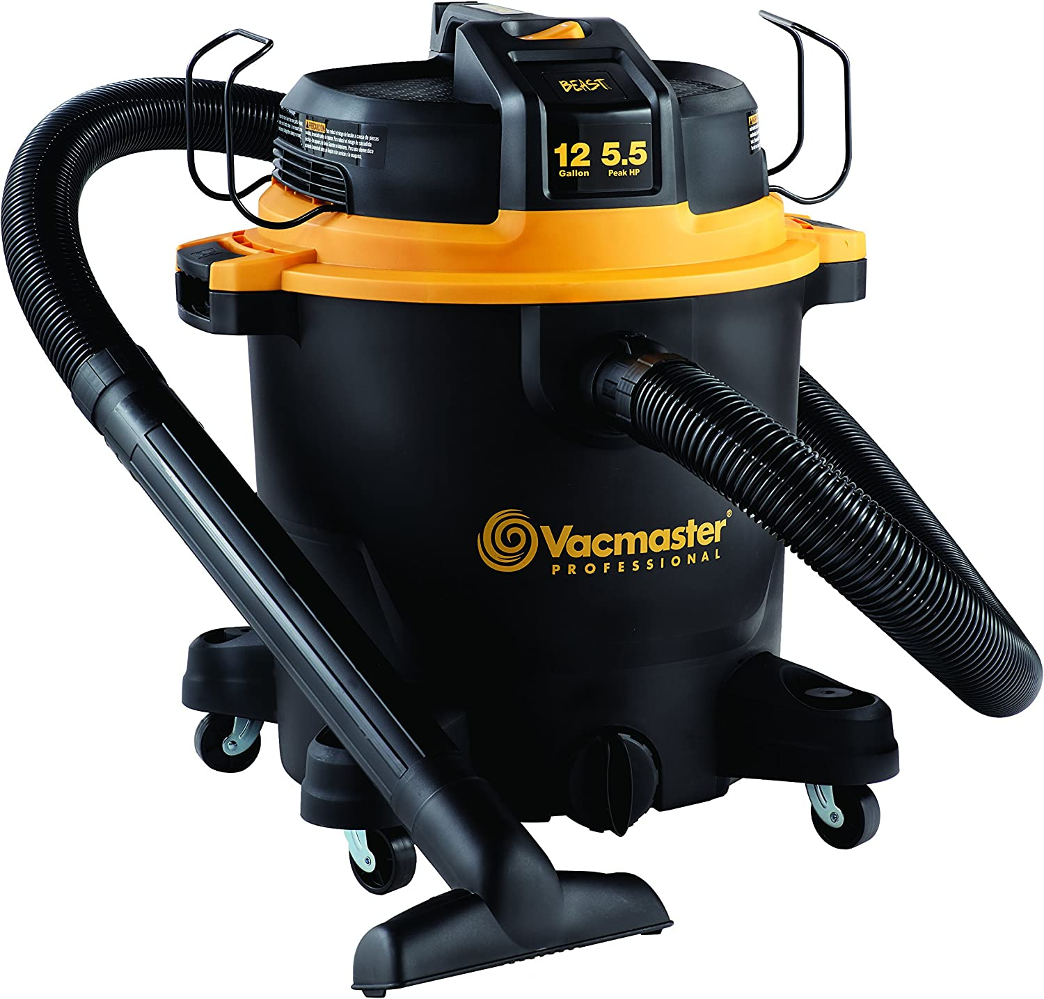 Vacmaster Professional – Professional Wet Dry Vac, 12 Gallon, Beast Series, 5.5 HP 2-1 2 Hose VJH1211PF0201