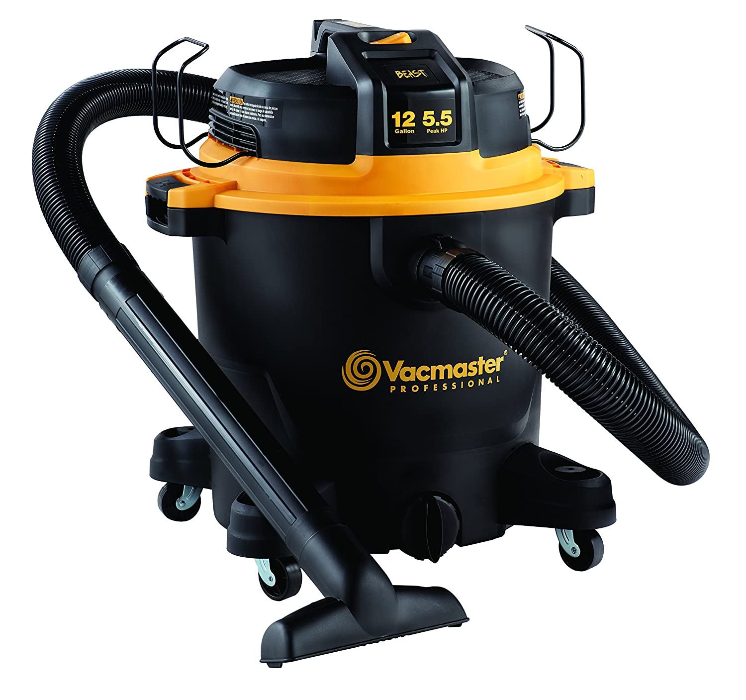 Vacmaster Professional - Professional Wet/Dry Vac, 12 Gallon, Beast Series, 5.5 HP 2-1/2-inch Hose VJH1211PF0201