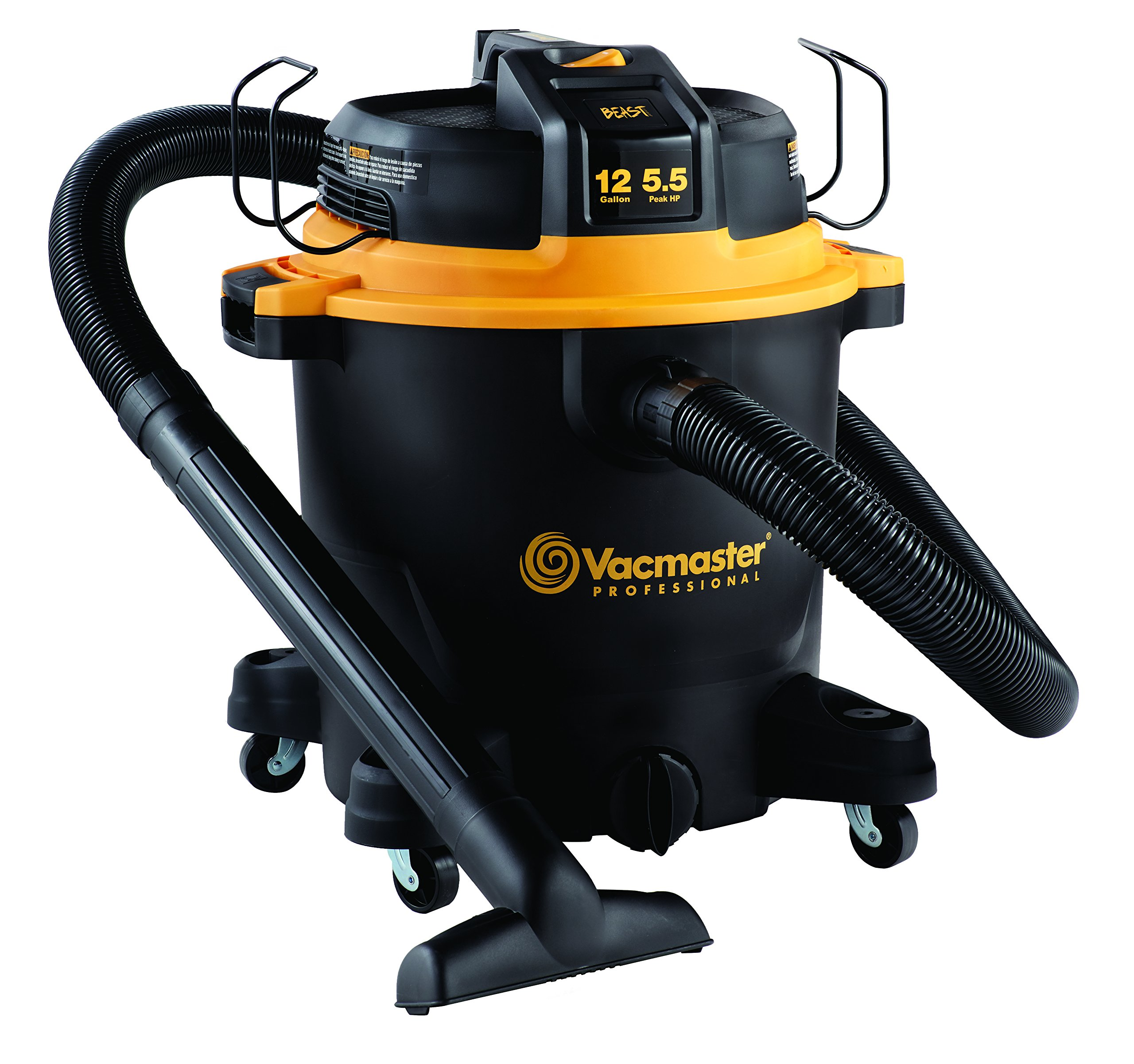 Vacmaster Professional - Professional Wet/Dry Vac, 12 Gallon, Beast Series, 5.5 HP 2-1/2'' Hose (VJH1211PF0201) by VACMASTER