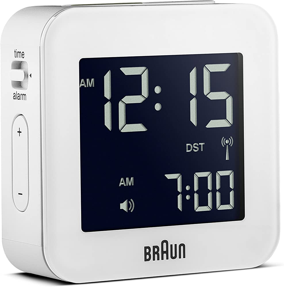 BRAUN BNC008BK-RC - Reloj Despertador Digital Negro
