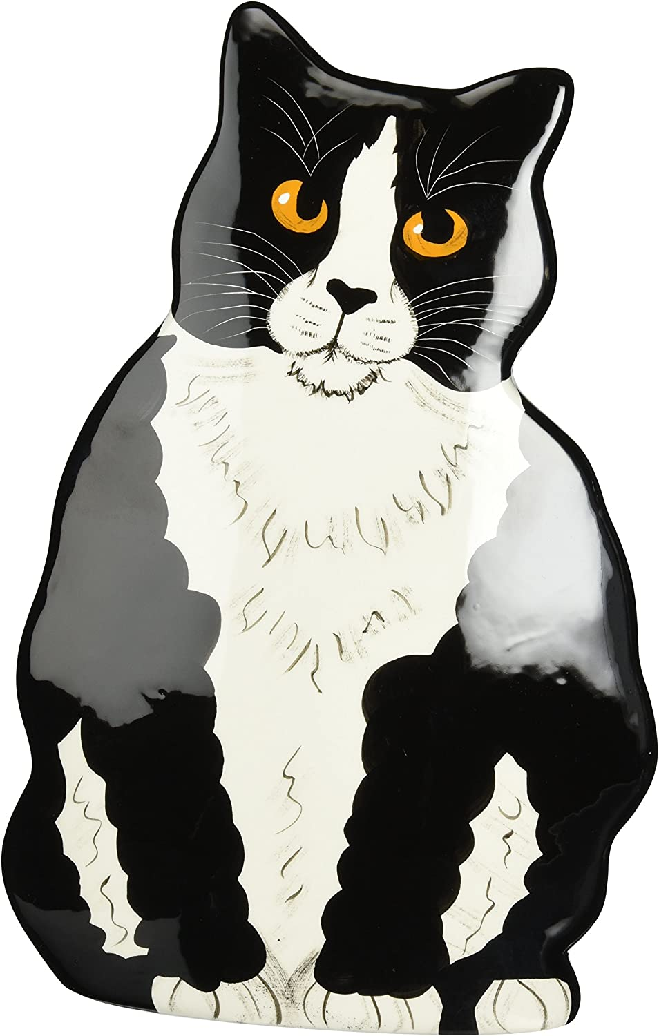 Rescue Me Now Pavilion Gift, Large Tuxedo Cat Vase, 11-1/2-Inch Tall