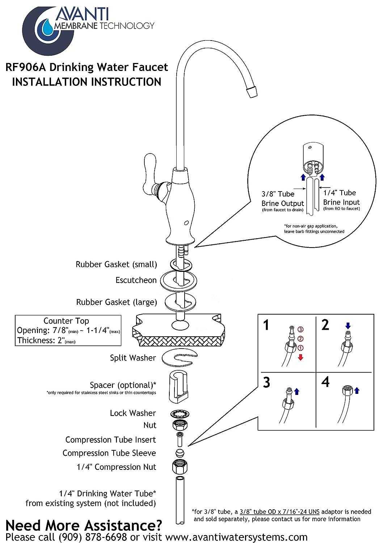 Avanti Membrane Technology designer RO filter Drinking Water Faucet ...