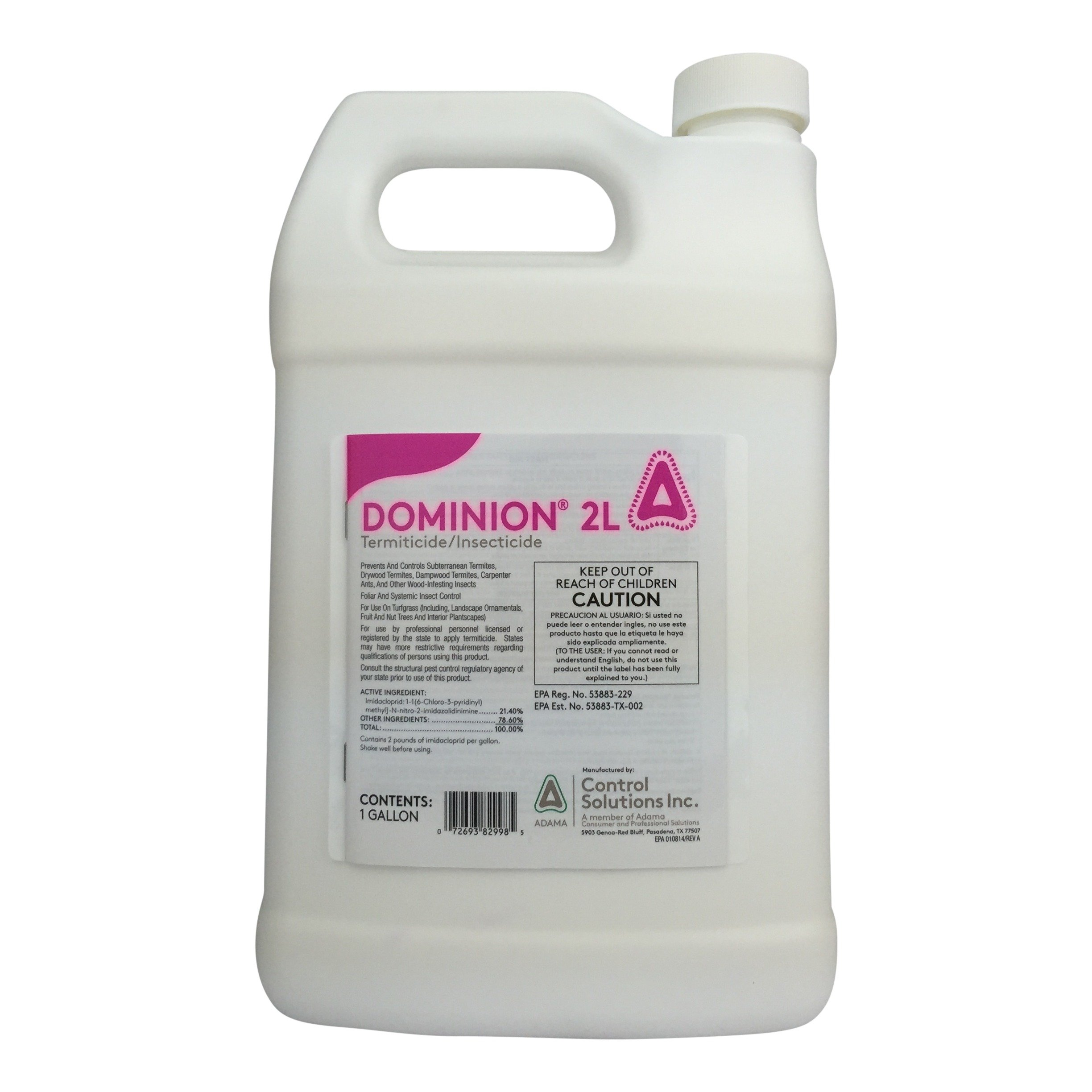 Control Solutions Dominion 2L 21.4% Imidacloprid-1 Gallon 785499 by Control Solutions