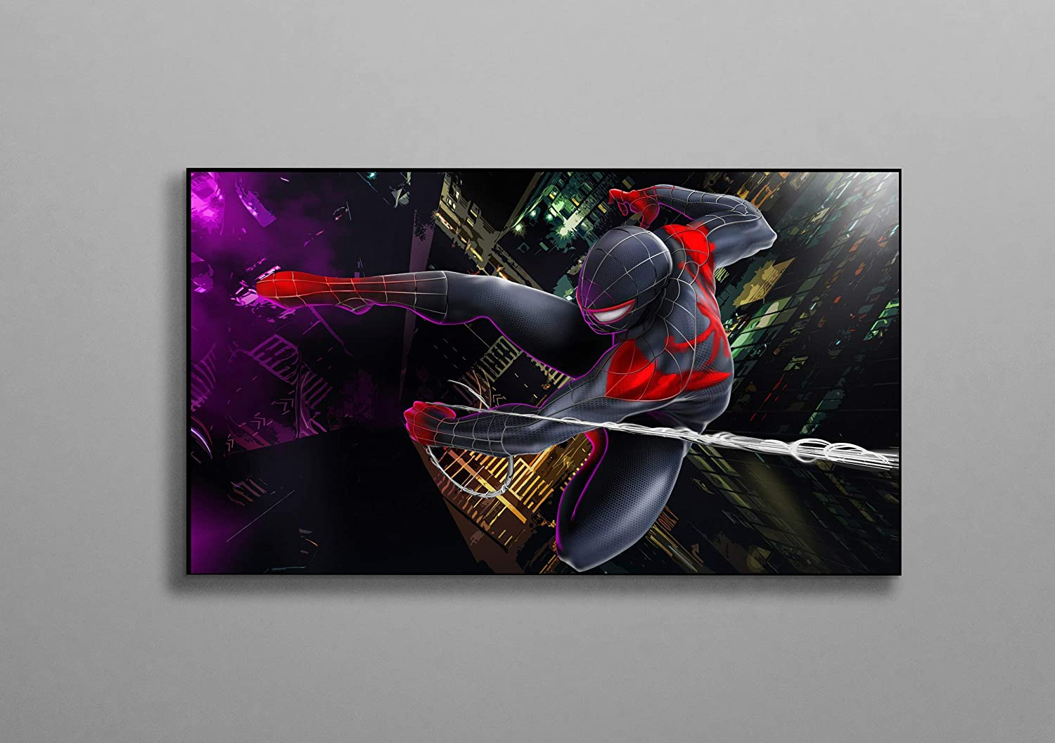 Spiderman Miles Morales Best Poster Wall Decor Print Canvas Art Wall Art Print Gift Unframed Printing Size - 11