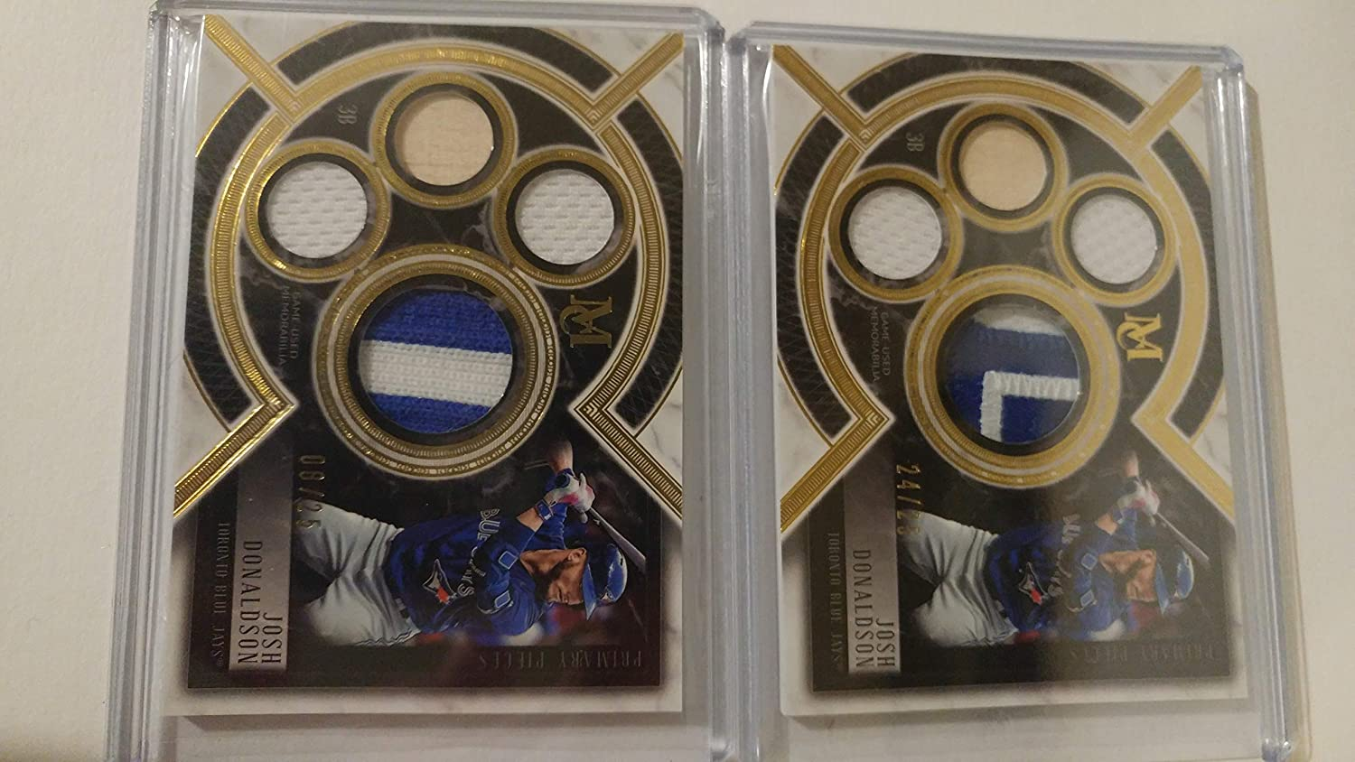 buy popular e1059 3dd4a Josh Donaldson 2018 Topps Museum Collection Game Used Jersey ...