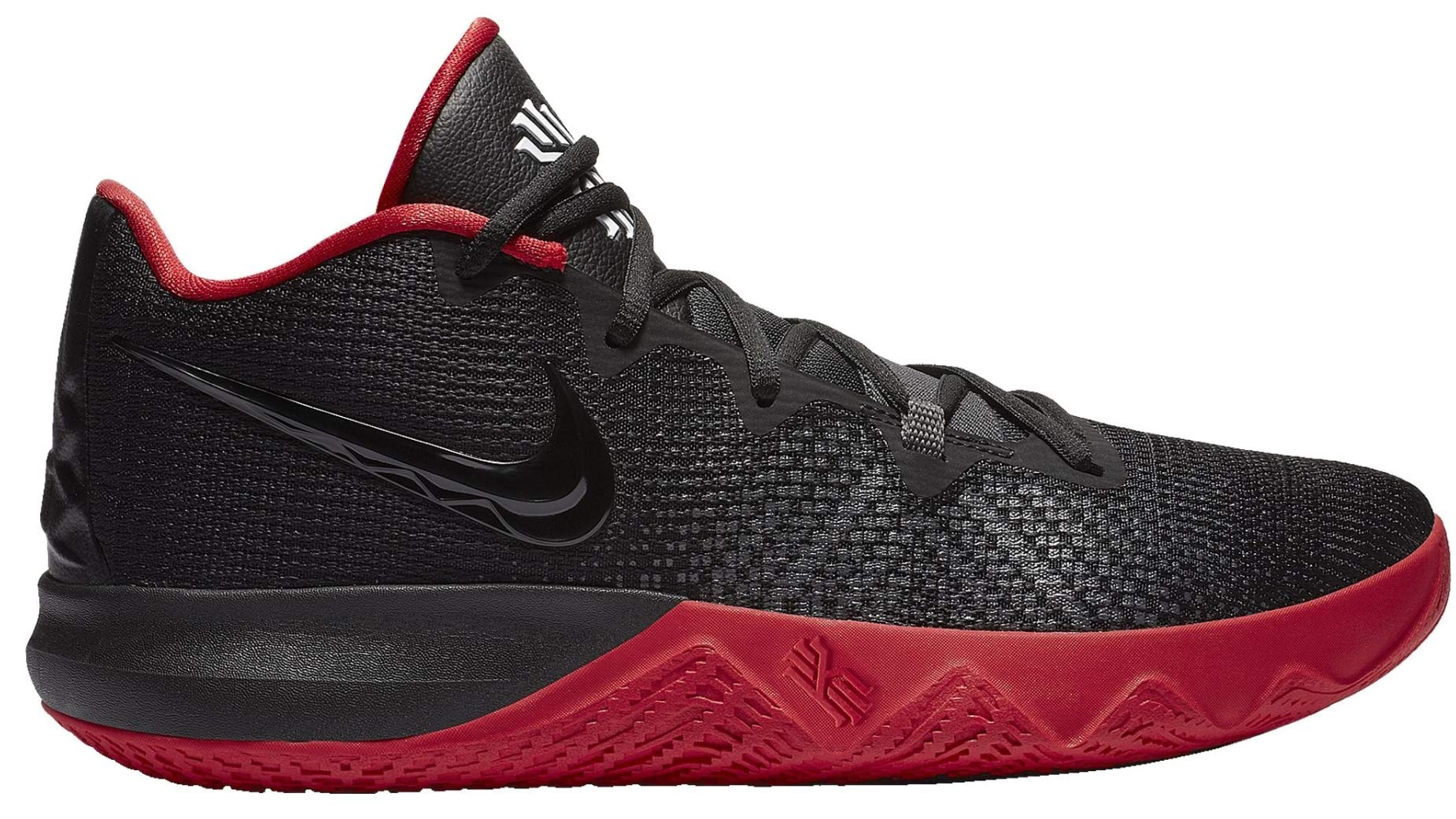 Nike Men Kyrie Flytrap Basketball High Top Sneakers From Finish Line Black White Red Us 10 5