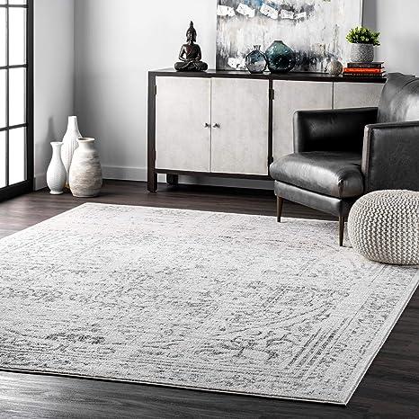 Amazon Com Nuloom Arlena Vintage Area Rug 5 X 8 Grey Furniture Decor