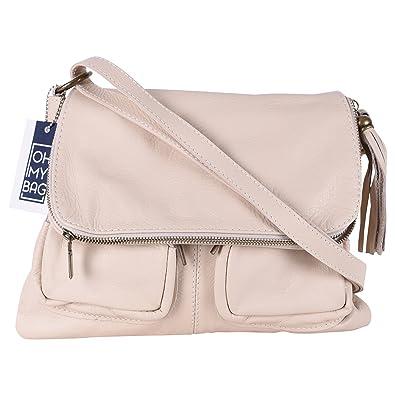 605fdbb5ec OH MY BAG Sac à main en cuir Avril beige: Amazon.fr: Chaussures et Sacs