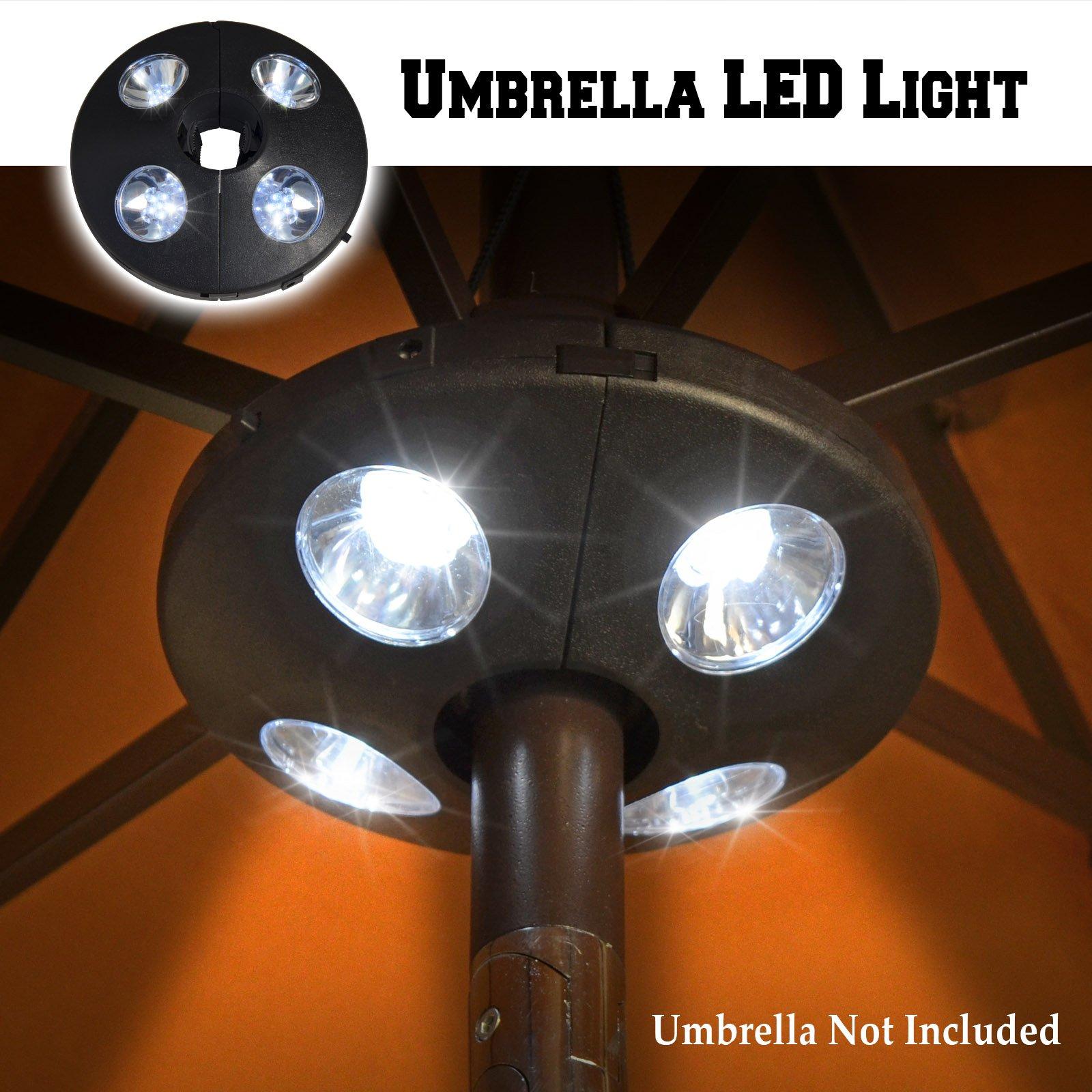 BenefitUSA Patio Umbrella Light 24 LED Wireless Night Lights Battery Operated Umbrella Pole Light