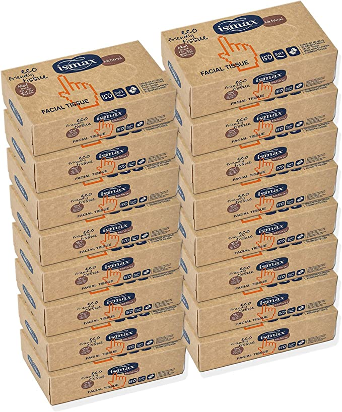 Pañuelos Papel Caja Reciclado Facial Tissues con Dispensador Eco 150 unidades - 25 Estuches: Amazon.es: Salud y cuidado personal