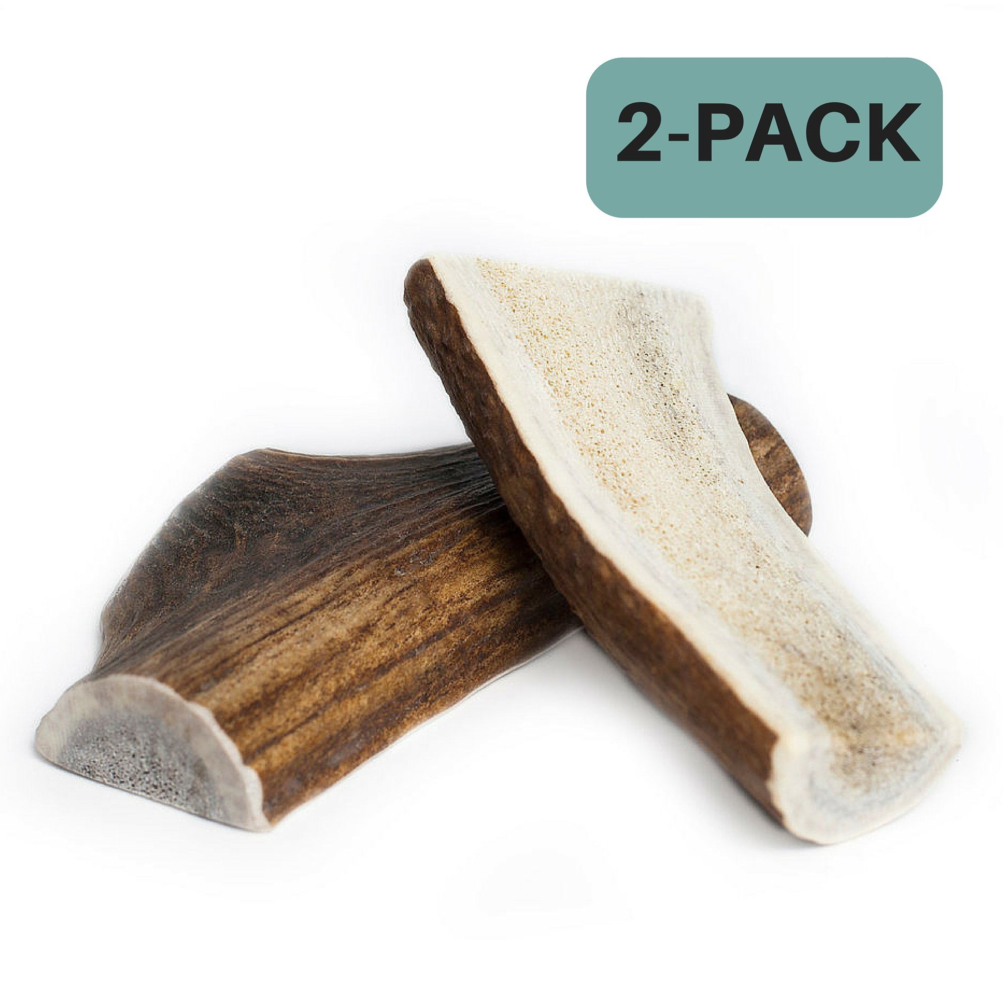 Chipper Critters Split Elk Antler Chew Dogs - Small 2-Pack - All Natural, Made in the USA The Best, Healthy, Virtually Indestructible Treats Chews Dogs Puppies (SM 2-pack)