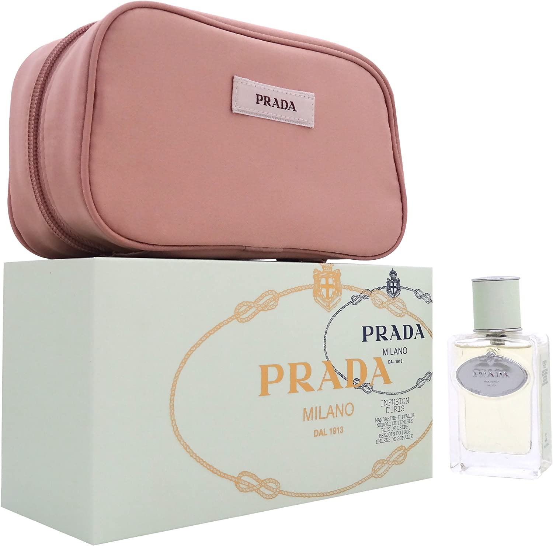 Prada Infusion D iris estuche para mujer by PRADA EDP Spray 50 ml + Pouch Estuche: Amazon.es: Belleza